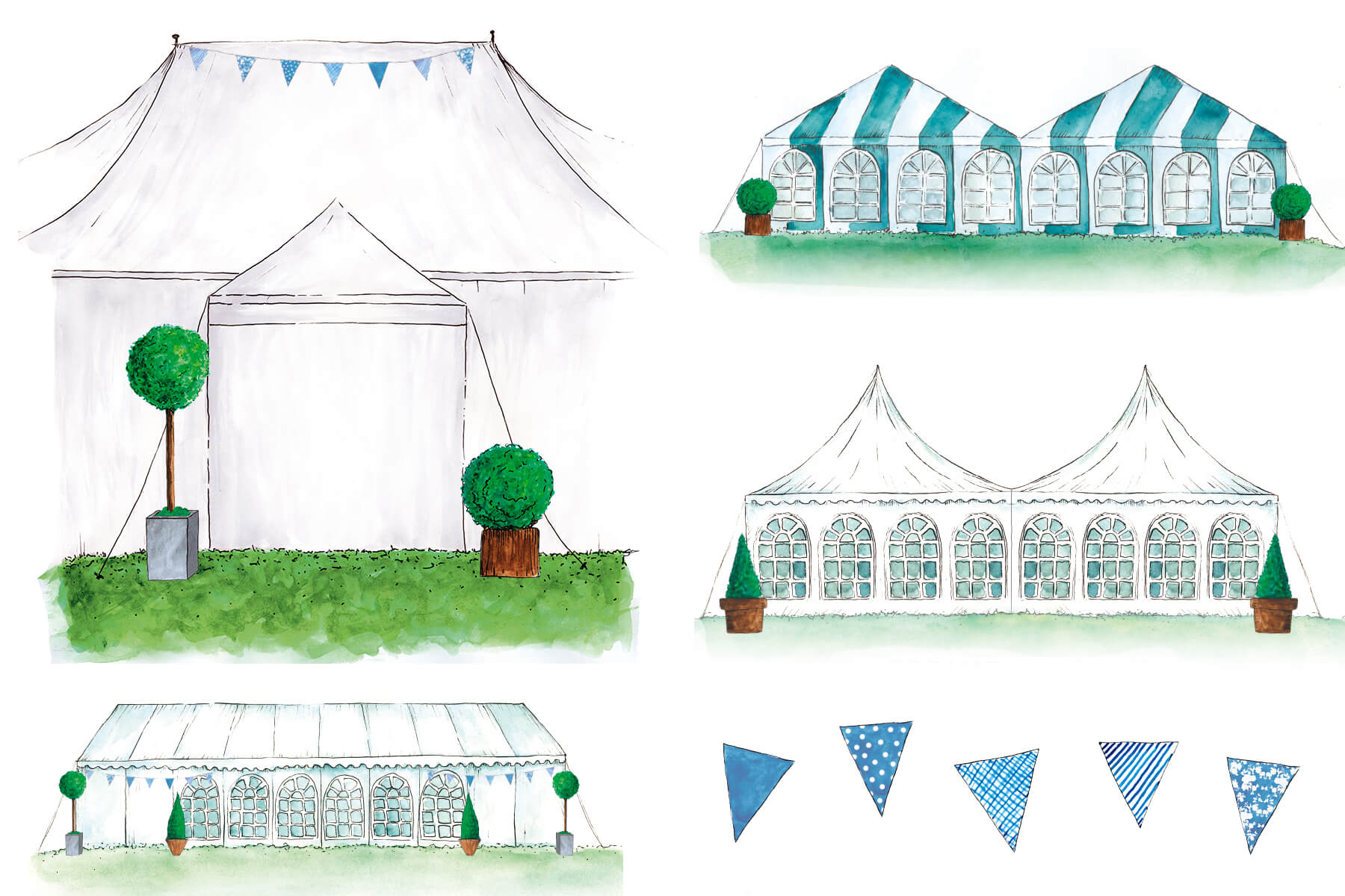 Tip Top Marquees Watercolours